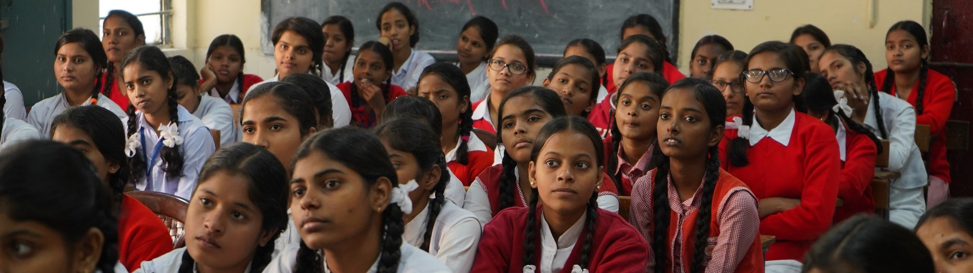 Classe de filles en Inde
